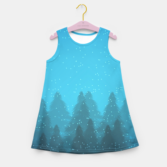 Miniaturka Winter Land Blue Girl's Summer Dress, Live Heroes