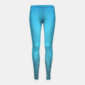 Miniaturka Winter Land Blue Girl's Leggings, Live Heroes