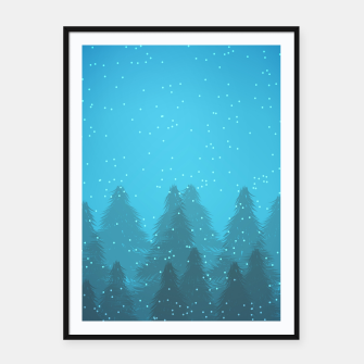 Miniaturka Winter Land Blue Framed poster, Live Heroes