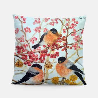 Miniatur Bullfinches_oil Pillow, Live Heroes