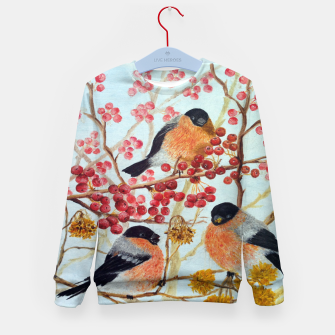 Miniatur Bullfinches_oil Kid's Sweater, Live Heroes