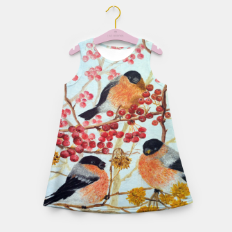 Miniatur Bullfinches_oil Girl's Summer Dress, Live Heroes