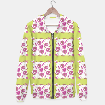 Thumbnail image of Green Cherries Abstract Pattern Hoodie, Live Heroes