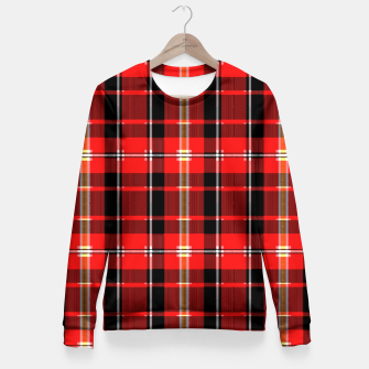 Thumbnail image of Digital Plaid 2 Fitted Waist Sweater, Live Heroes