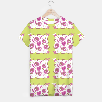 Thumbnail image of Green Cherries Abstract Pattern T-shirt, Live Heroes