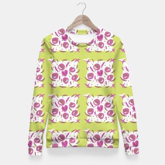 Thumbnail image of Green Cherries Abstract Pattern Fitted Waist Sweater, Live Heroes