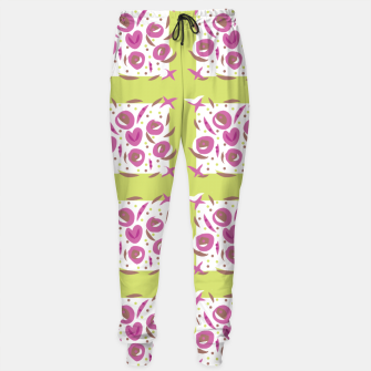 Thumbnail image of Green Cherries Abstract Pattern Sweatpants, Live Heroes