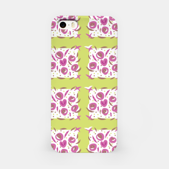 Thumbnail image of Green Cherries Abstract Pattern iPhone Case, Live Heroes