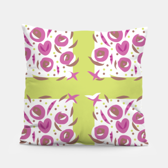 Thumbnail image of Green Cherries Abstract Pattern Pillow, Live Heroes