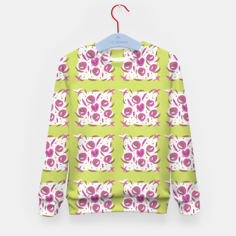 Thumbnail image of Green Cherries Abstract Pattern Kid's Sweater, Live Heroes