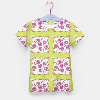 Thumbnail image of Green Cherries Abstract Pattern Kid's T-shirt, Live Heroes
