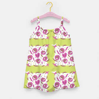 Thumbnail image of Green Cherries Abstract Pattern Girl's Dress, Live Heroes