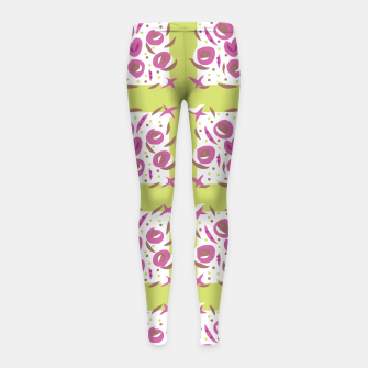 Thumbnail image of Green Cherries Abstract Pattern Girl's Leggings, Live Heroes