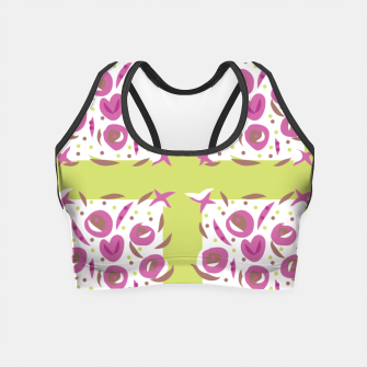 Thumbnail image of Green Cherries Abstract Pattern Crop Top, Live Heroes