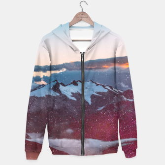 Wander Love - Winter landscape photography Hoodie obraz miniatury