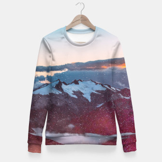 Wander Love - Winter landscape photography Fitted Waist Sweater obraz miniatury
