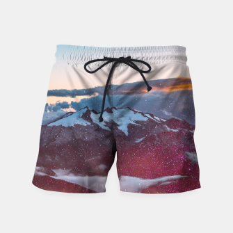 Wander Love - Winter landscape photography Swim Shorts obraz miniatury