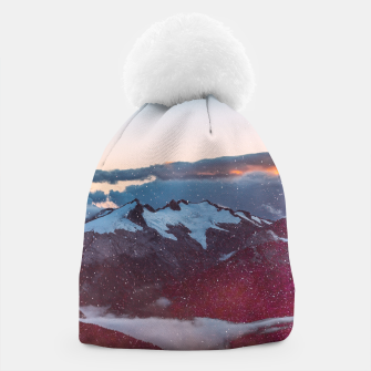 Wander Love - Winter landscape photography Beanie obraz miniatury
