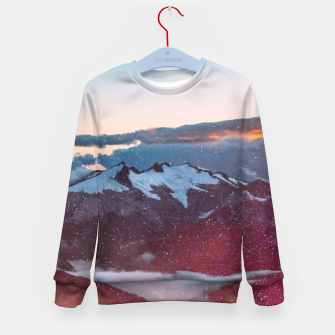 Wander Love - Winter landscape photography Kid's Sweater obraz miniatury