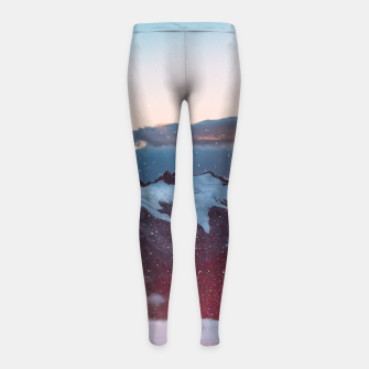 Wander Love - Winter landscape photography Girl's Leggings obraz miniatury