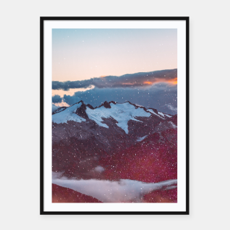 Wander Love - Winter landscape photography Framed poster obraz miniatury