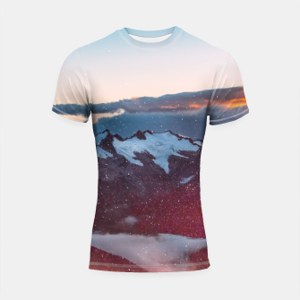 Thumbnail image of Wander Love - Winter landscape photography Shortsleeve Rashguard, Live Heroes