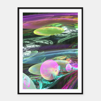 Thumbnail image of Creation of the Abstract Rainbow Galaxy Framed poster, Live Heroes