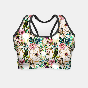 Thumbnail image of Bohemian Skull Pattern Flowery Vibrant Colors Crop Top, Live Heroes