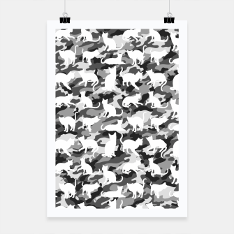 Miniature de image de Black and White Catmouflage Camouflage Poster, Live Heroes