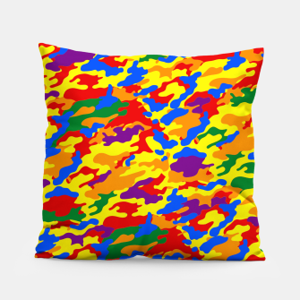 Miniatur Homouflage Gay Stealth Camouflage Pillow, Live Heroes