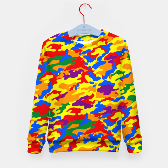 Miniatur Homouflage Gay Stealth Camouflage Kid's Sweater, Live Heroes
