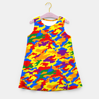 Miniatur Homouflage Gay Stealth Camouflage Girl's Summer Dress, Live Heroes