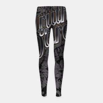 Thumbnail image of Truth Or Dare Girl's Leggings, Live Heroes