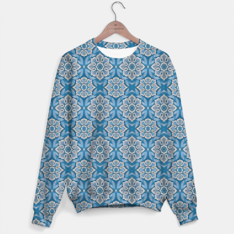 Thumbnail image of Snow Flower Blue & Gray Pattern Sweater, Live Heroes