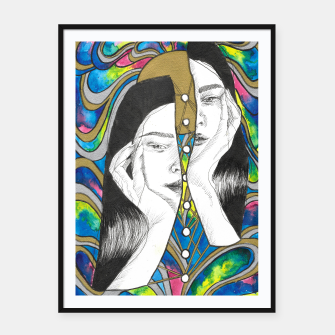 Layers of self Framed poster obraz miniatury