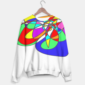 Thumbnail image of Abstract Art Colorful Design Sweater, Live Heroes