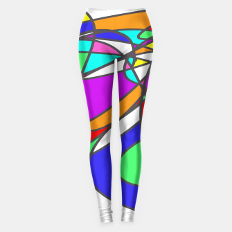 Thumbnail image of Abstract Art Colorful Design Leggings, Live Heroes