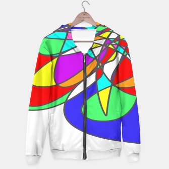 Thumbnail image of Abstract Art Colorful Design Hoodie, Live Heroes