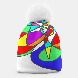Thumbnail image of Abstract Art Colorful Design Beanie, Live Heroes