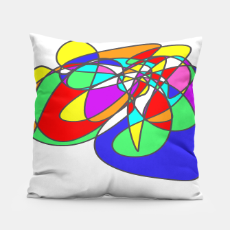 Thumbnail image of Abstract Art Colorful Design Pillow, Live Heroes