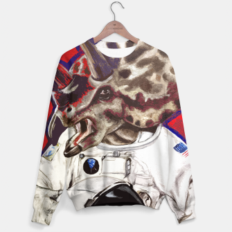Thumbnail image of Triceratops Astronaut Dinosaur Art Sweater, Live Heroes