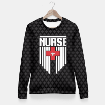 Thumbnail image of Nurse Shield Fitted Waist Sweater, Live Heroes