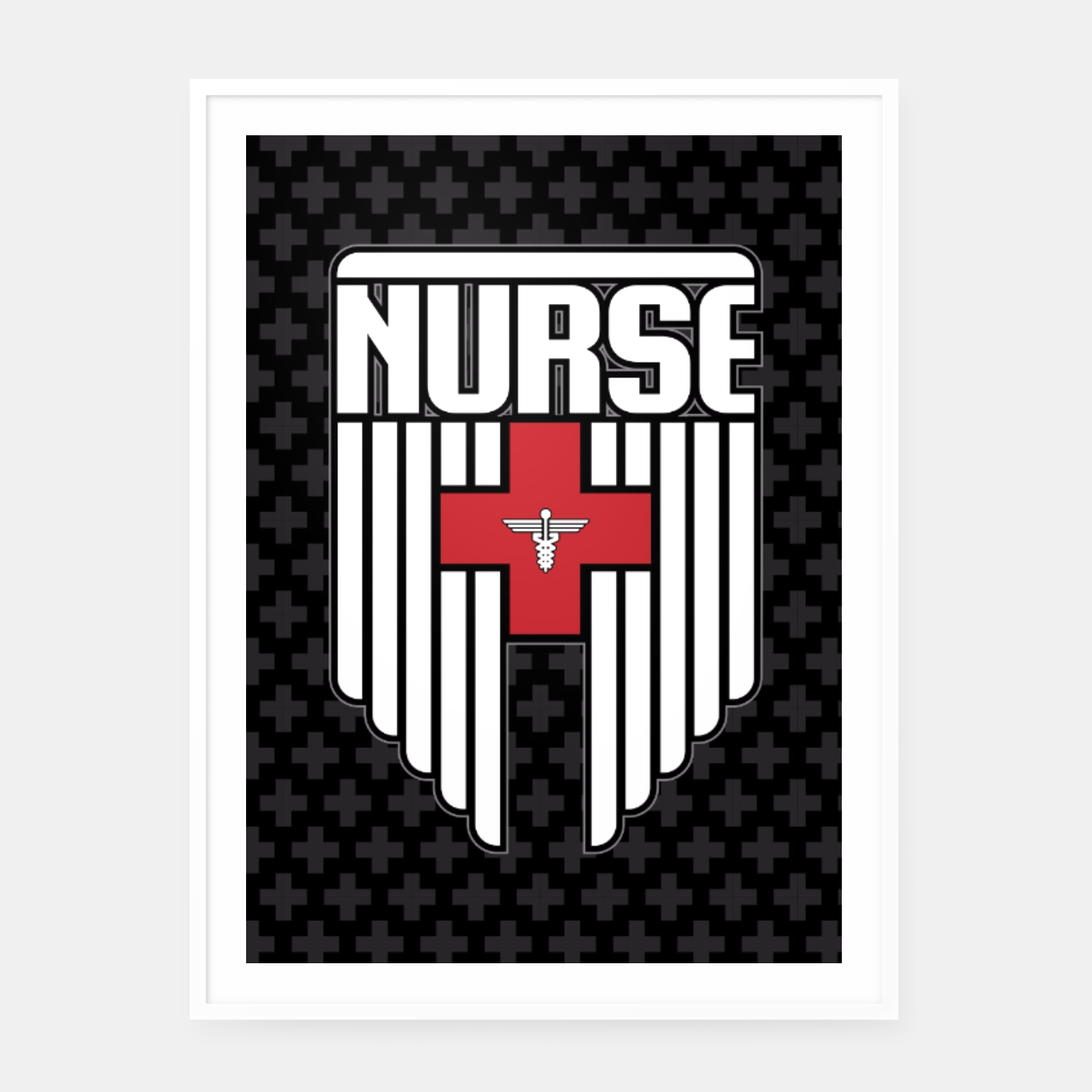Image of Nurse Shield Framed poster - Live Heroes