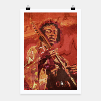 Miniatur Hypnotic Guitar Poster, Live Heroes
