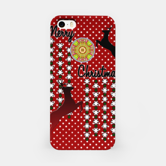 Thumbnail image of Merry Christmas Snow Deer iPhone Case, Live Heroes