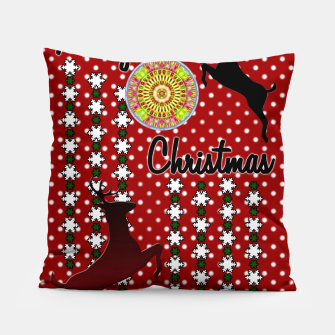 Thumbnail image of Merry Christmas Snow Deer Pillow, Live Heroes