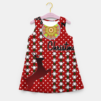Thumbnail image of Merry Christmas Snow Deer Girl's Summer Dress, Live Heroes