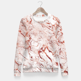 Thumbnail image of RoseGold Marble Fitted Waist Sweater, Live Heroes