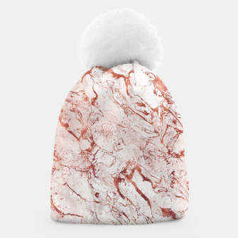 Thumbnail image of RoseGold Marble Beanie, Live Heroes