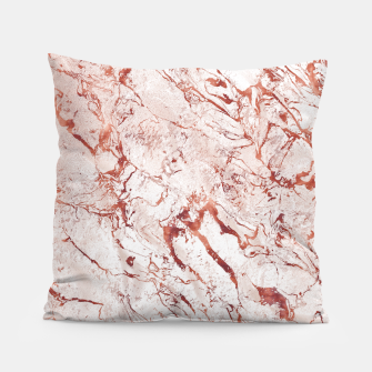 Thumbnail image of RoseGold Marble Pillow, Live Heroes